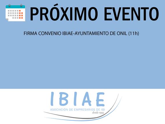 IBIAE - CONVENIO IBIAE AYUNTAMIENTO ONIL