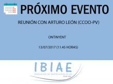 IBIAE - REUNION CON ARTURO LEON CCOO-PV