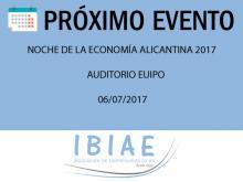 IBIAE - NOCHE DE LA ECONOMIA ALICANTINA 2017