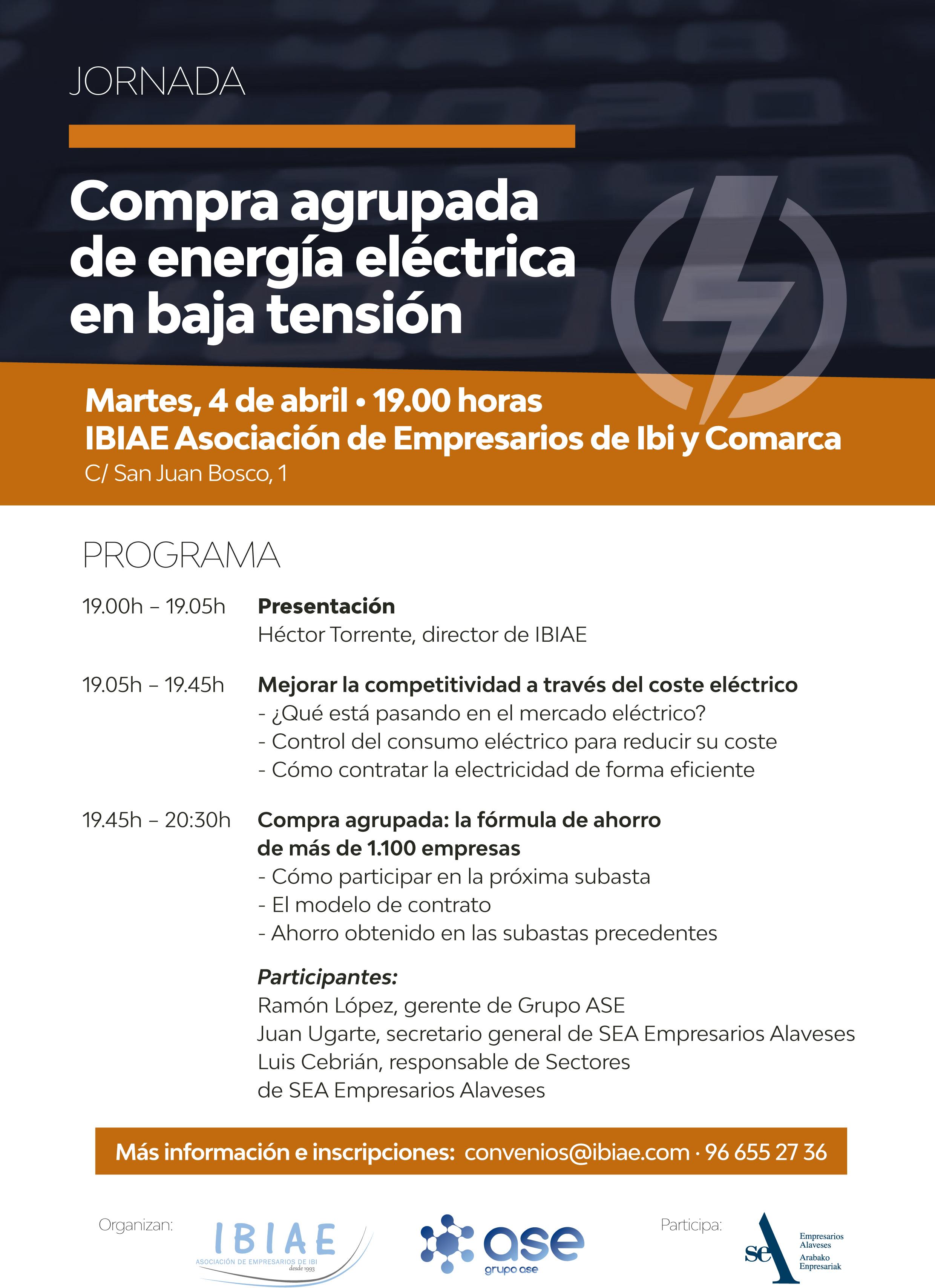 IBIAE - JORNADA COMPRA AGRUPADA DE ENERGIA