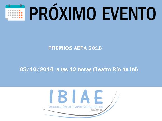 IBIAE - PREMIOS 2016 AEFA