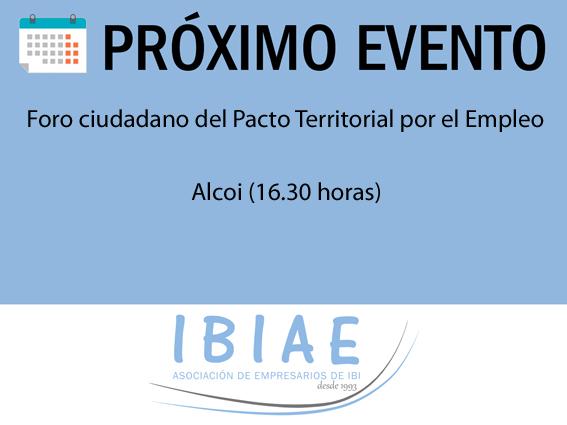IBIAE - FORO PACTO TERRITORIAL POR EL EMPLEO